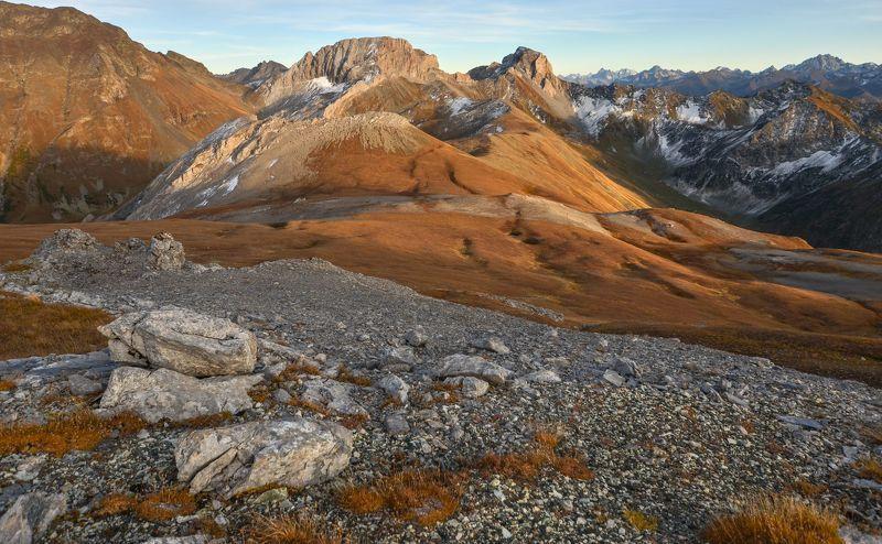 горы, вечер, осень Вечерняяphoto preview