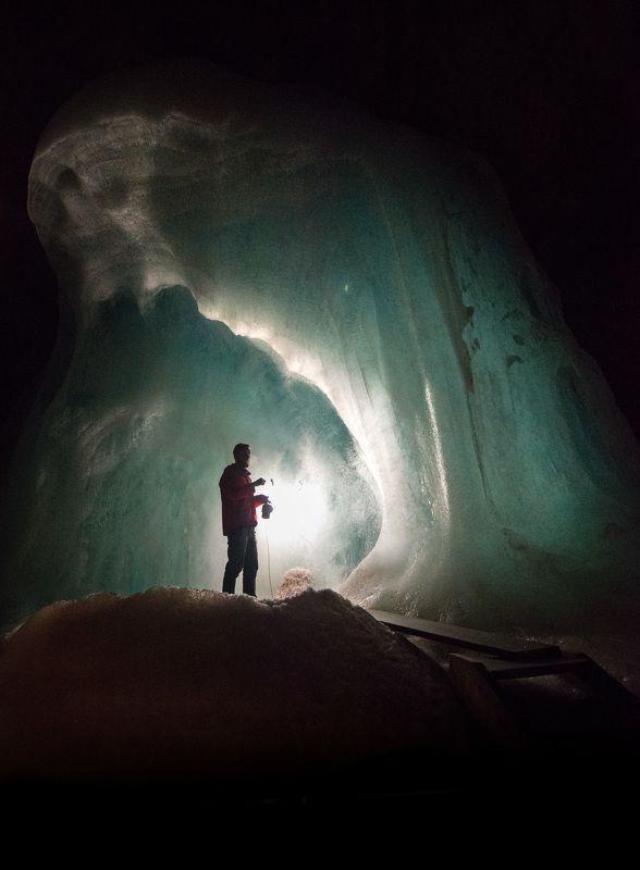 cave, ice, austria, eisriesenwelt Inside the ice cave фото превью