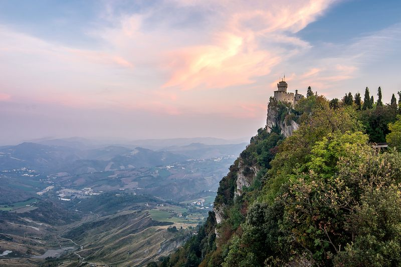san marino, , monte titano, cesta tower , mountain, mountain sunset, castello, сан марино Cesta Tower  - отблески закатаphoto preview