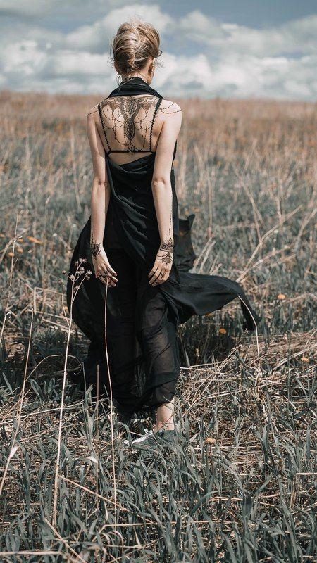 девушка, мехенди, готика Анастасияphoto preview