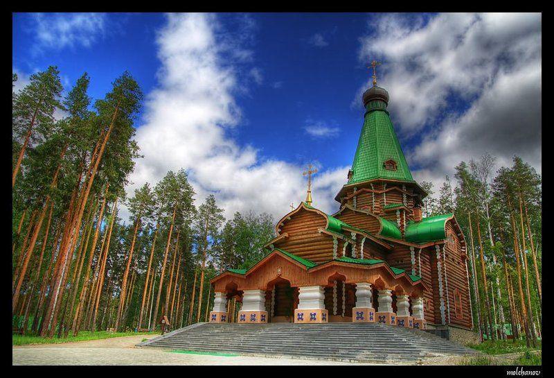 церковь, монастырь, небо, облака, царь, екатеринбург, ганина яма, hdr Церковь (Ганина яма)photo preview