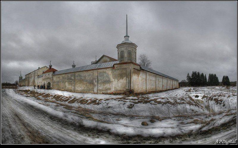 монастырь зима Монастырь зимойphoto preview