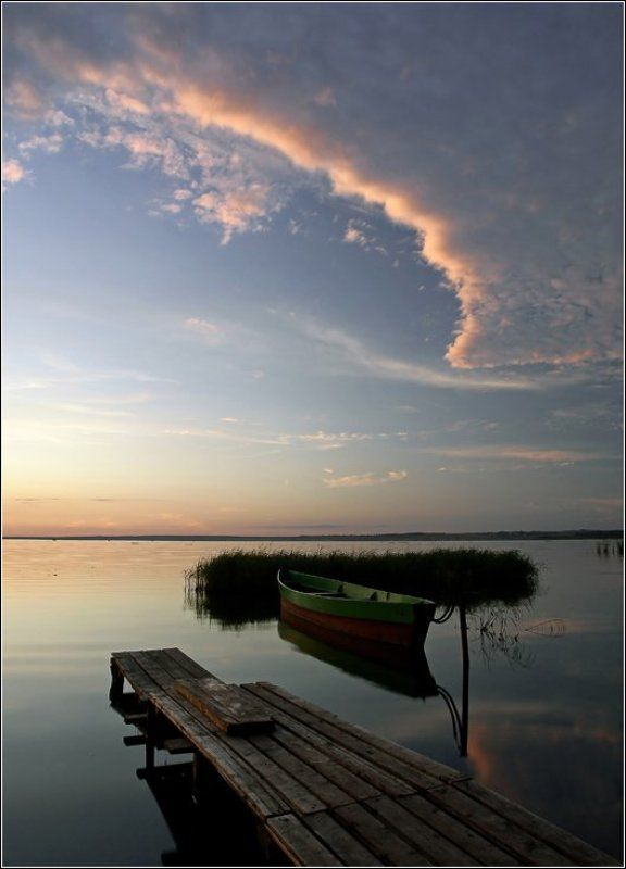 вечер, лодка, переславль, залесский, плещеево, озеро Вечерняя прогулка у озераphoto preview