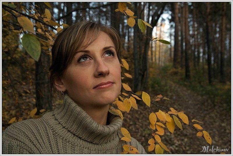 парк, осень, желтые, листья, девушка, загадка, осеннее, настроение, оксана Осеннее настроениеphoto preview