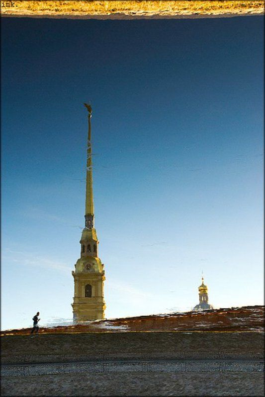 питер, петропавловская крепость про треснувшее окно в весну....photo preview