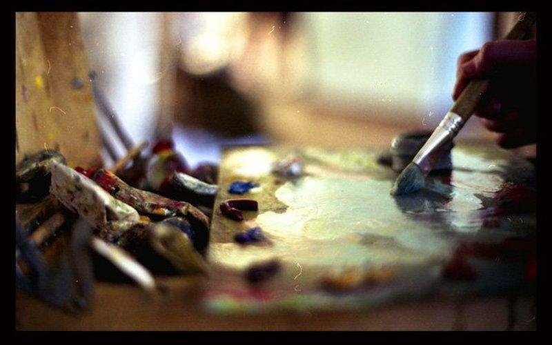 краски, масло, художник, палитра, кисть, рука the colors of my lifephoto preview
