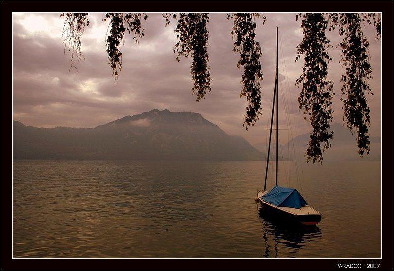 швейцария,веггис,weggis,озеро,лодка,конец лета,paradox Прощание с летомphoto preview