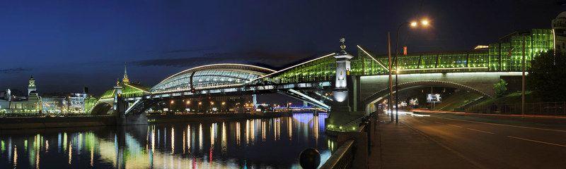 мост, богдан, хмельницкий, вечер, набережная Мост Богдана Хмельницкогоphoto preview