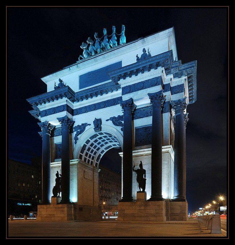 ночь город москва триумфальная арка Триумфальная аркаphoto preview