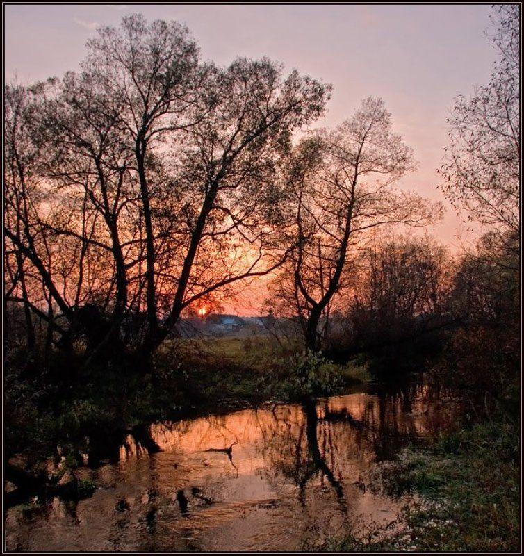 закат, река, отражение, осень Закатная №2photo preview