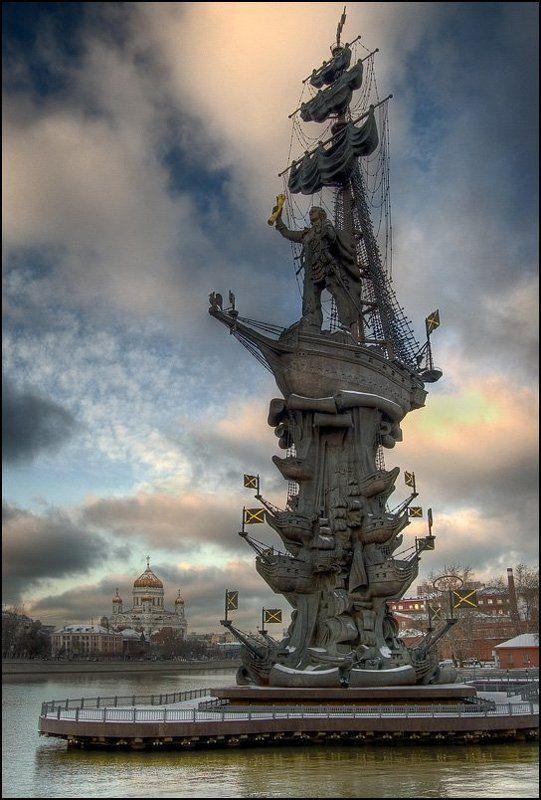 колумб, петр, памятник, москва, церетели Columb...photo preview