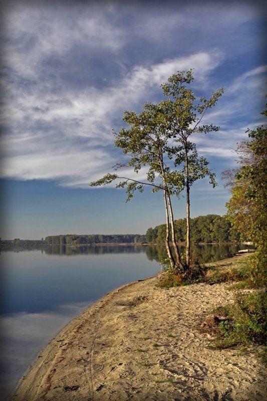 вечер, биссерово, озеро, деревца Три сестрыphoto preview