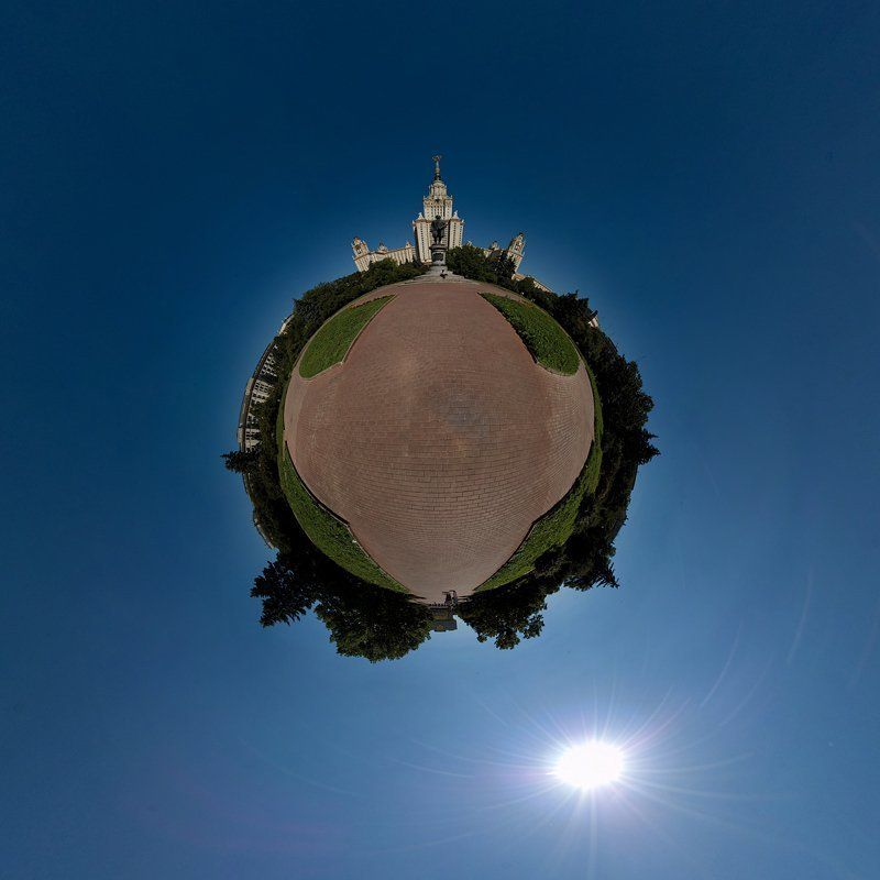 мгу, глобус, планета, панорама Глобус МГУphoto preview