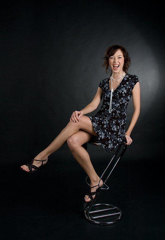 студия, девушка, платье, стул, табуретка Elena [5]photo preview