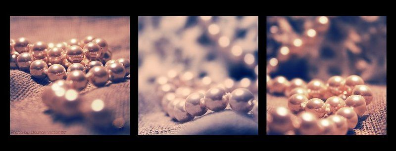 жемчуг, триптих Pearls. Waves.photo preview