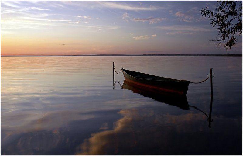 золотое, кольцо, переславль, залесский, плещеево, озеро, закат Лишь комариный писк тревожил тишину... (вечерняя)photo preview