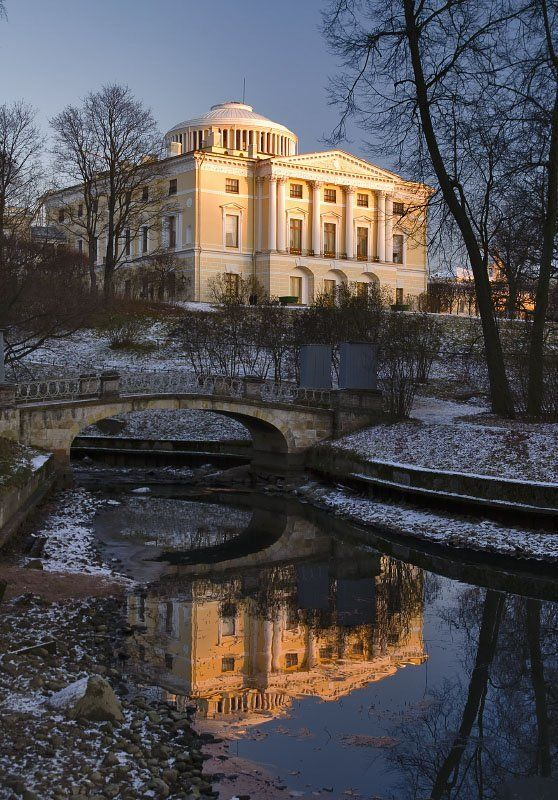 павловск, канал, мост, отражение, осень photo preview