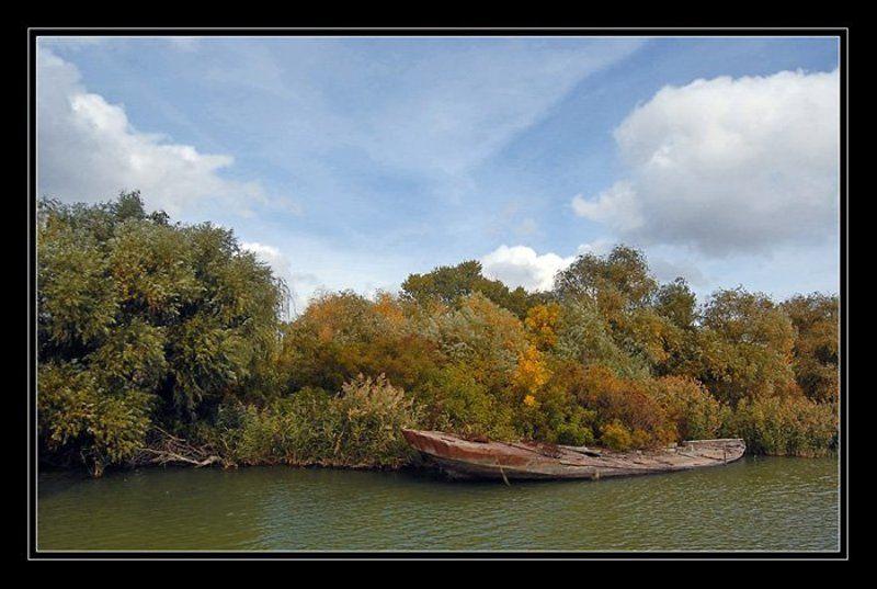 пейзаж, лодка, дунай Дунайские мотивыphoto preview