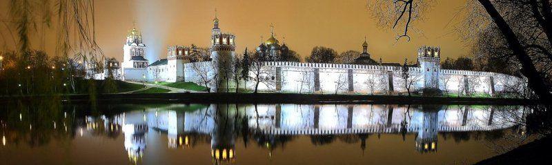 монастырь, панорама. Новодевичий монастырь, панорама.photo preview