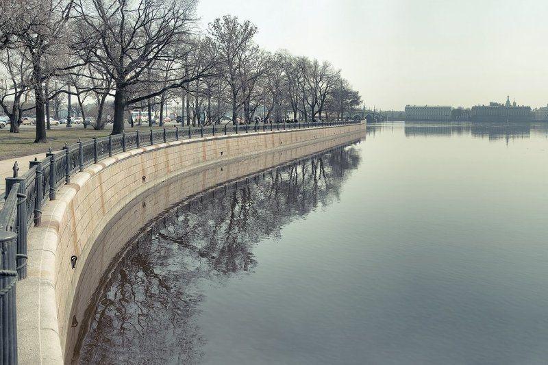 петербург, осень, весна, утро Promenadephoto preview