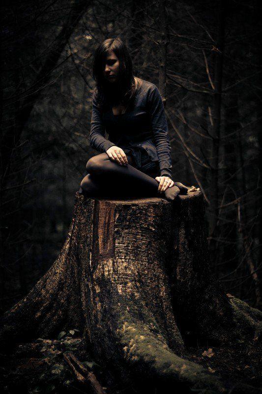 девушка, лес ***photo preview
