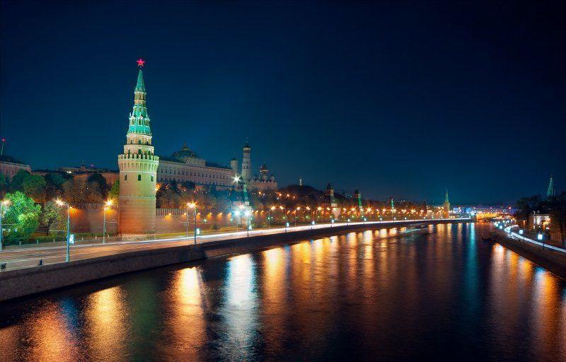 кремлевская, набережная, москва, ночь, кремль кремлевская набережнаяphoto preview
