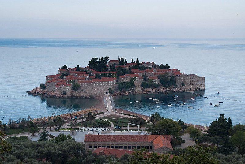 черногория, святой стефан, море, туризм Остров Святого Стефанаphoto preview