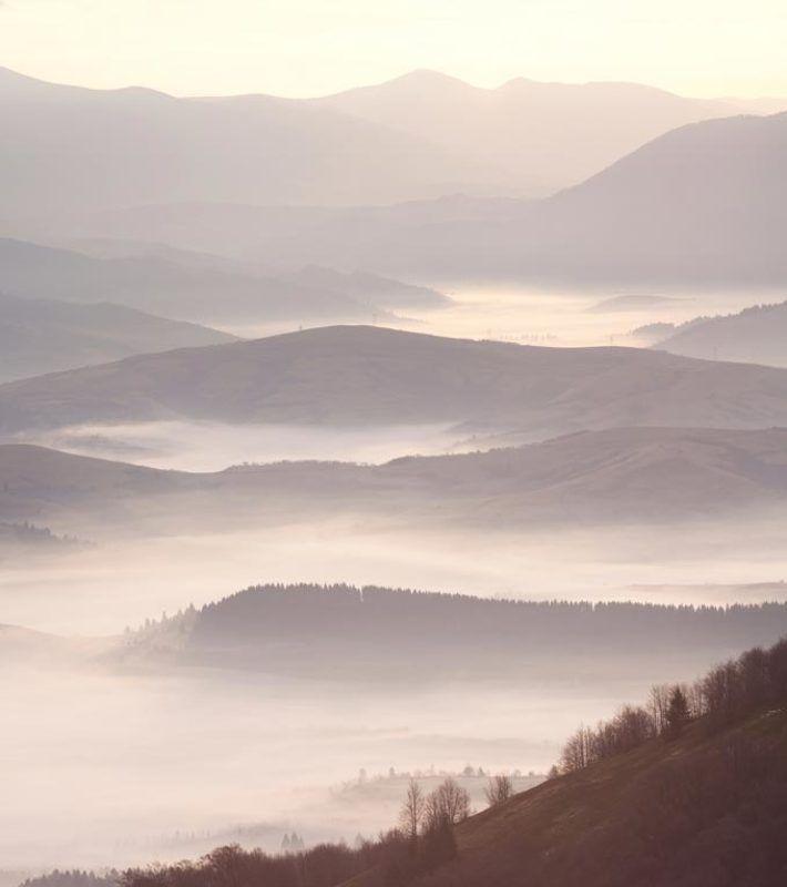 карпати, боржава, ранок, панорама Autumn\'s Echophoto preview