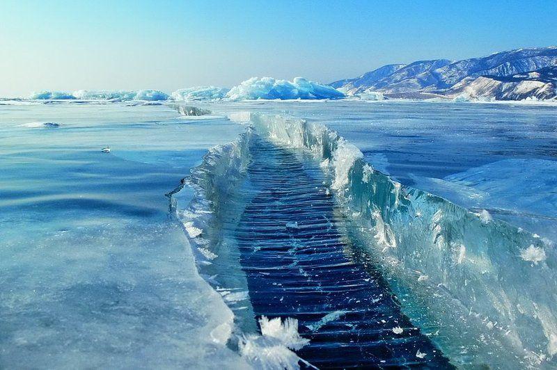байкал, лед, трещина Становаяphoto preview