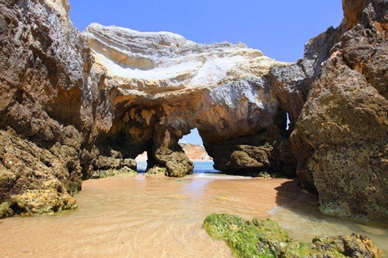 атлантика, портимау, пляж, Пляжи Прая Роша  в  Портимау  -  символ Алгарве.photo preview
