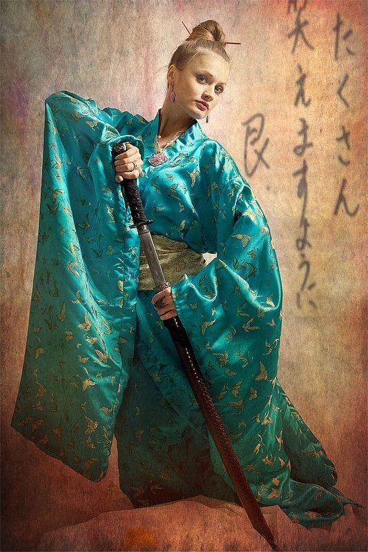 девушка, япония, катана, кимоно На сопках Манжурии..)photo preview