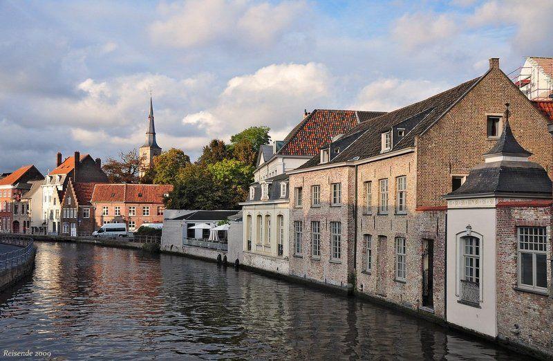 belgien, brugge, sint-annarei Sint-Annarei. Вечерphoto preview