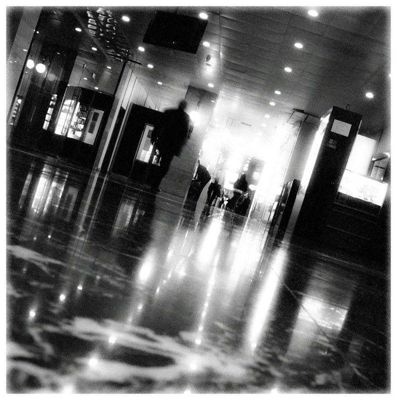 пол, лампы, тень. коридор, перспектива Коридорphoto preview