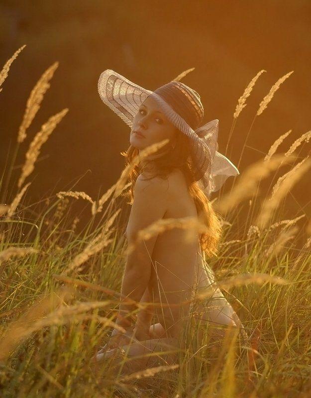 закат, девушка, природа, ню, На закате...photo preview