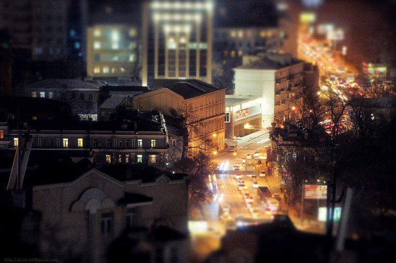 владивосток, ночь, темно, дорога, огни, дома, маленький, город Наш маленький городphoto preview