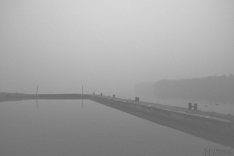 Дым, Москва, Москва-река, Река, Туман Речной туманphoto preview