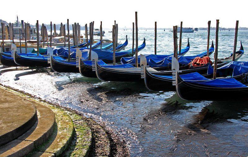 пристань, гондолы, италия, венеция Пристаньphoto preview