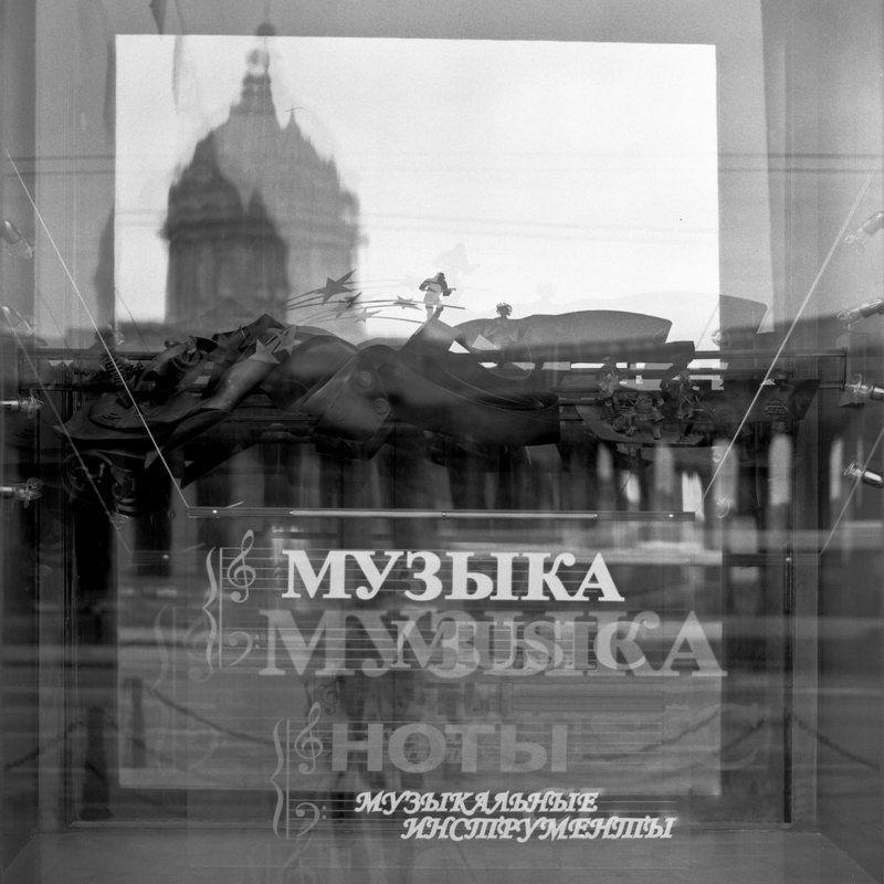 петербург, осень, чб, сф, невский Музыкаphoto preview