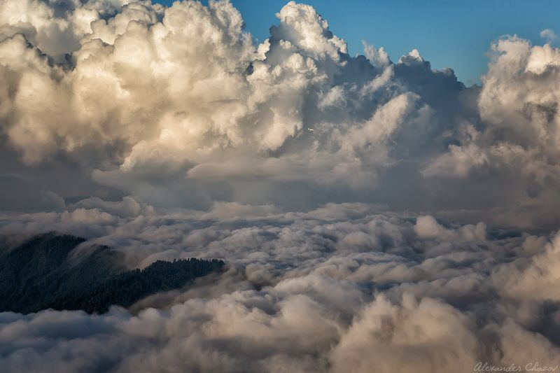 гималаи, горы, облака, непал Небесный театрphoto preview