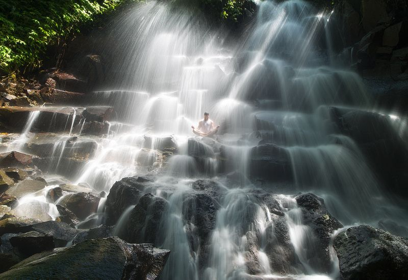 indonesia, bali, waterfall Kanto Lampophoto preview