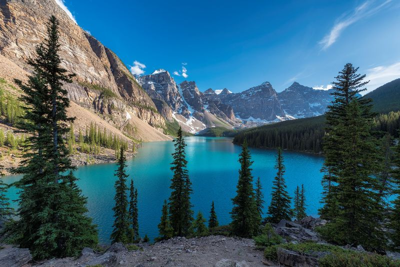 canada, banff, lake, nature, louise, moraine, landscape, scenery, mountain, canadian, rockies, summer, rocky, alberta, scenic, sunrise, hiking, trekking, national, park, calgary, scenery, alps, alpine, Canadian Rockiesphoto preview