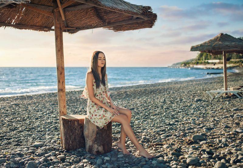 море, сочи, пляж, модель, никон, 35мм ***photo preview