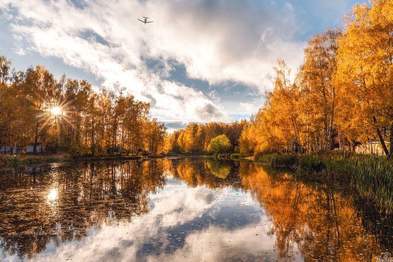 шереметьевский пруд,долгопрудный,московская область,подмосковье,осень Шереметьевский прудphoto preview