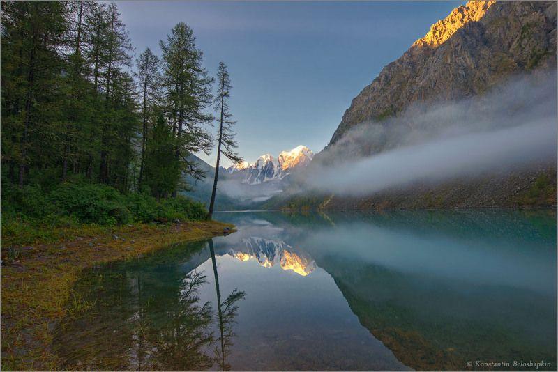 шавлинское озеро, утро, алтай, горы Шавлинский рассветphoto preview