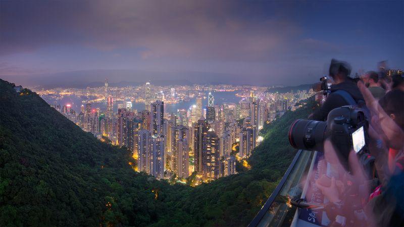 гонконг, город Впечатления с пика Викторияphoto preview