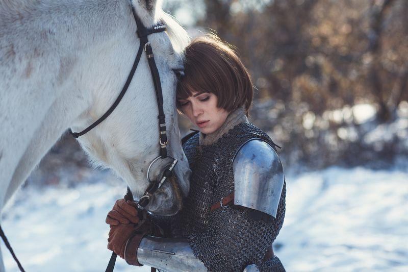 девушка,лошадь,доспехи Дарьяphoto preview