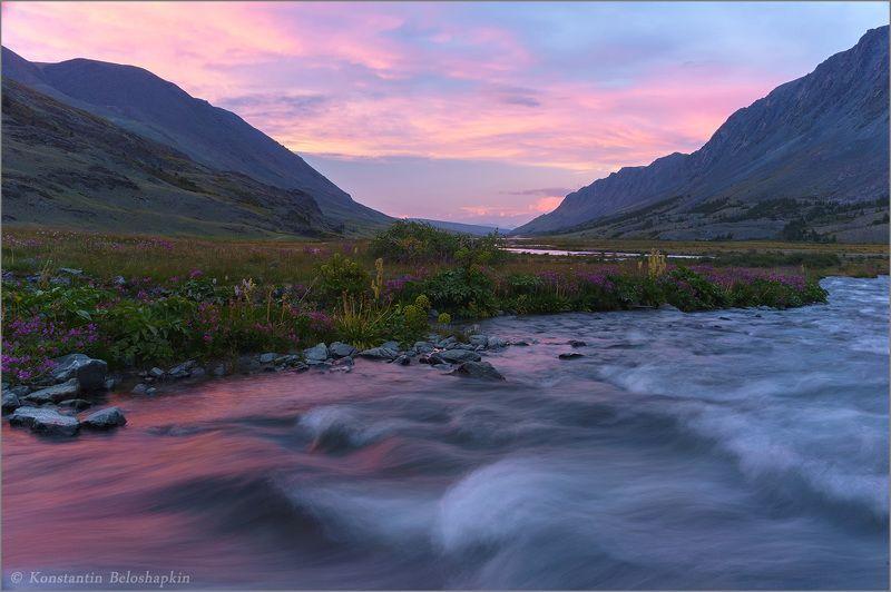 аккол, вечер, закат, алтай Вечер в долине Акколаphoto preview