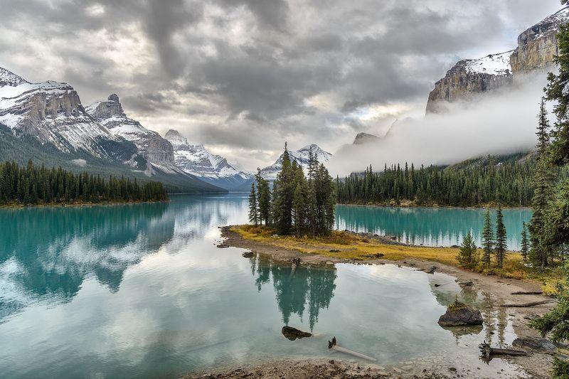 Канада, Скалистые горы, Джаспер, пейзаж, озеро Остров духовphoto preview