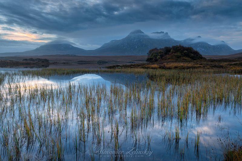 озеро, рассвет, шотландия Лох Хаклphoto preview