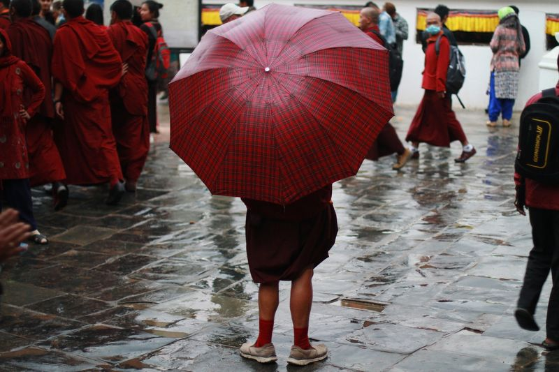 monk, kathmandu, nepal ***photo preview